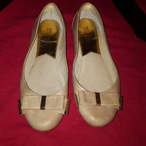 Michael Kors Blush Leather Ballet Flats